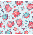 Cute seamless pattern with pattern with roses vector image vector image