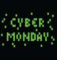 cyber monday - pixel styled banner background vector image