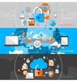 Data Protection Security Banners vector image vector image