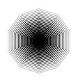 Decagon halftone geometric shapes seven vector image vector image