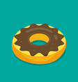 donut isometric modern flat style vector image
