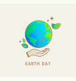 earth day symbolicon for environment safety vector image vector image
