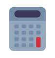 electronic portable calculator school supplies vector image