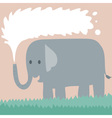 Elephant On Grass vector image