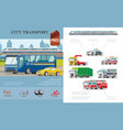 flat city transport infographic concept vector image