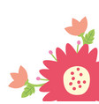 flowers branch leaves vector image vector image