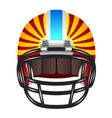 Football helmet with stripes vector image vector image