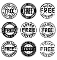 Free sugar and caffeine round stamps vector image