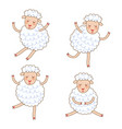funny little sheep set in different poses vector image vector image