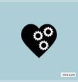 gear in heart icon gear in heart icon eps10 gear vector image