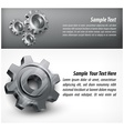 Gears background vector image vector image
