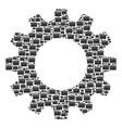 gearwheel mosaic of toolbox icons vector image