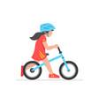 girl riding bike vector image