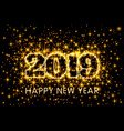 gold neon yellow typography happy new year 2019 vector image vector image