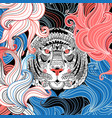 graphic ornamental portrait tiger vector image