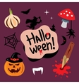 Halloween symbols Cartoon vector image vector image