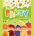 kids party invitation design template of vector image vector image
