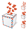 Love letterbox vector image vector image