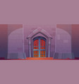 medieval castle gate dungeon or palace exterior vector image vector image