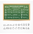 menu restaurant board vector image