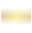music notes gold halftone effect vector image