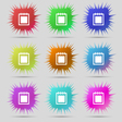Notepad icon sign A set of nine original needle vector image vector image