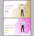 online business working people global network vector image