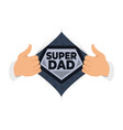 opening shirt dad vector image