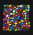 pebble colorful background for your design vector image vector image