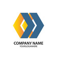 polygon business logo shape arrow vector image vector image