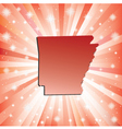 Red Arkansas vector image vector image