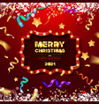 red greeting card with christmas vector image vector image