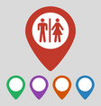restroom map pointer icon on grey background vector image vector image