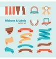 ribbons and labels vector image vector image