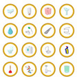 sanitary engineering cartoon icon circle vector image