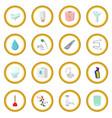 sanitary engineering cartoon icon circle vector image vector image