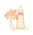 sea lighthouse on the beach vector image