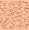 seamless pattern with fun cartoon sheep vector image vector image