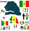 Senegal map vector image vector image