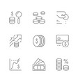 set line icons money vector image