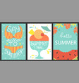 set of 3 posters of summertime vector image vector image