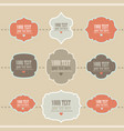 set of retro style labels vector image vector image