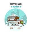 Shopping Mall Colorful Concept vector image vector image