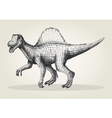 Sketch of a spinosaurus vector image