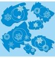Snowflake ragged rectangle design 004 vector image