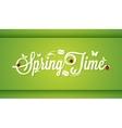 Spring Time Vintage Lettering Design Background vector image vector image