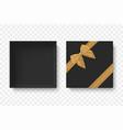 top view open blank box vector image vector image