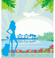tourism on a tropical vacation vector image vector image