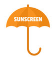 umbrella sun screen logo flat style vector image