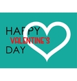 Valentine s Day Heart poster Typography vector image vector image